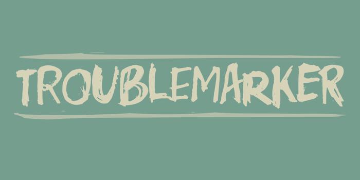 Troublemarker DEMO Font poster