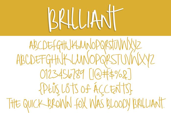 Brilliant Font poster