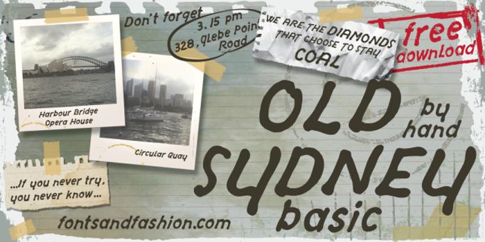 OLD SYDNEY_DEMO Font poster