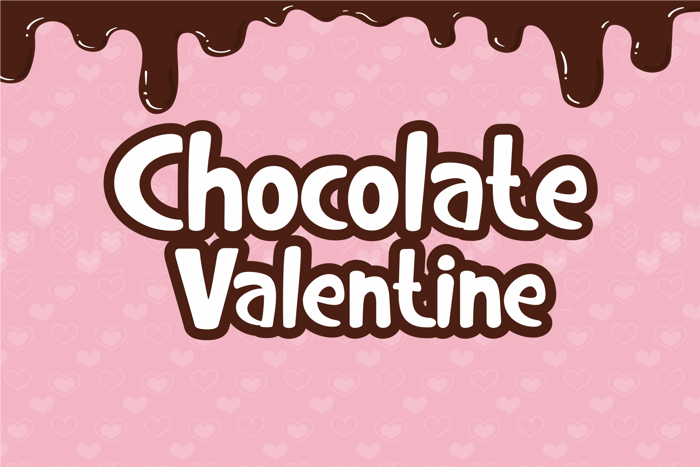 Chocolate Valentine Font poster