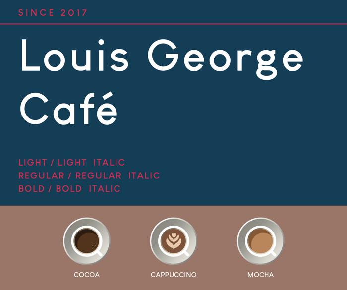 Louis George Café Font poster