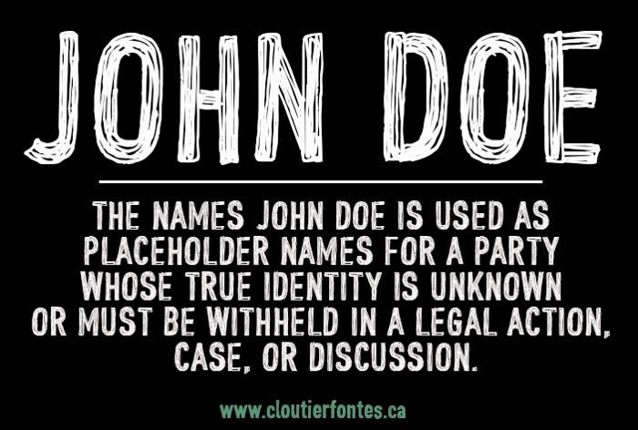 CF John Doe Font poster