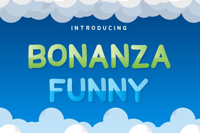 Bonanza Funny Font poster