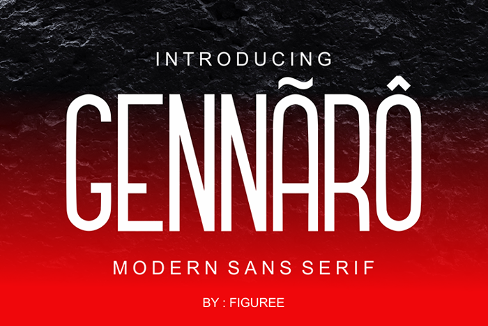 GENNARO Font poster