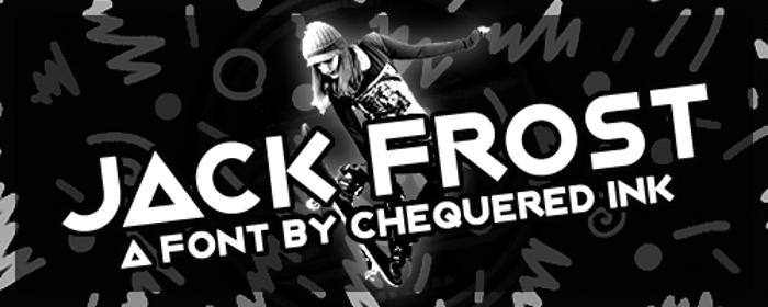Jack Frost Font poster