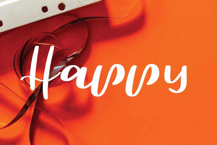 happy Font poster