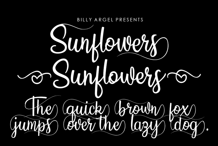 Sunflowers Font poster