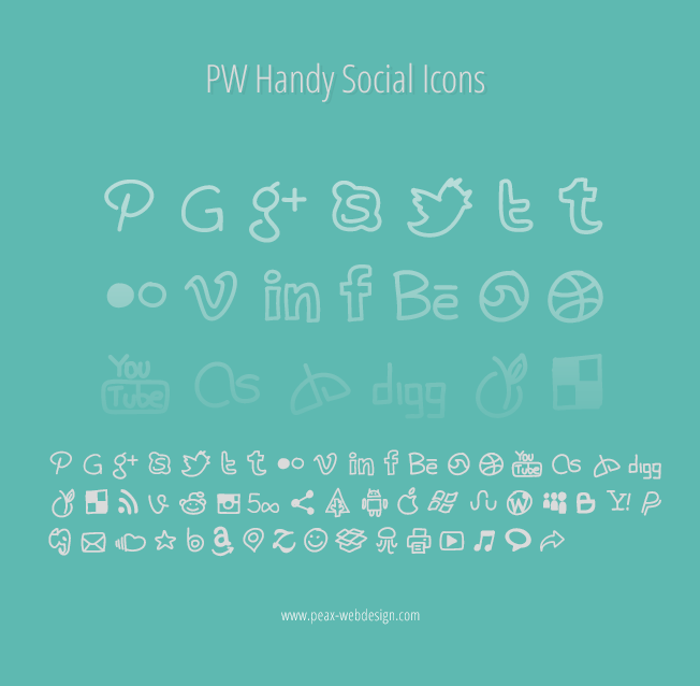 PWHandySocialIcons Font poster