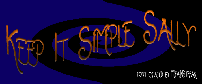 Keep It Simple Sally Font poster