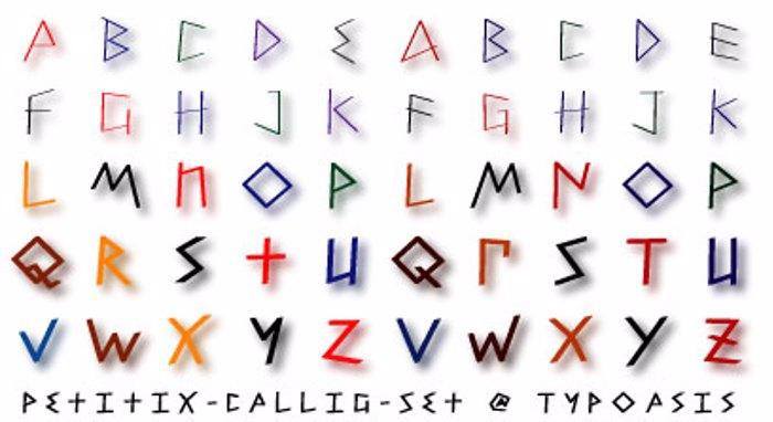 Petitix Three Callig Font poster