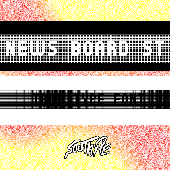 News Board St Font poster