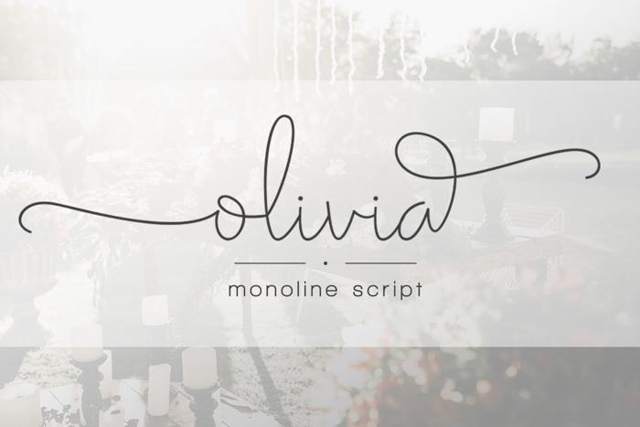 Olivia Font poster
