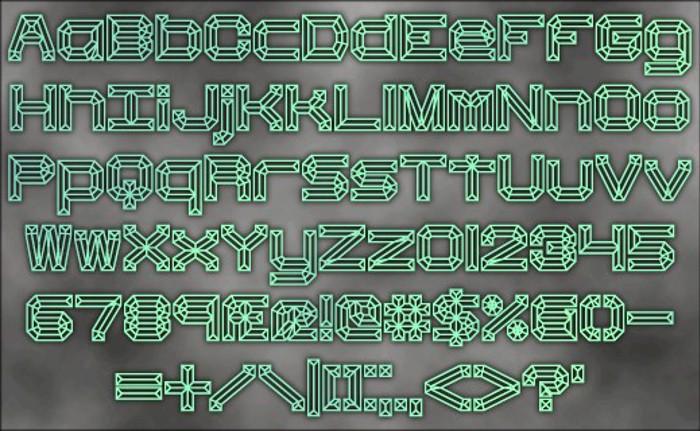 Heavy Bevel BRK Font poster
