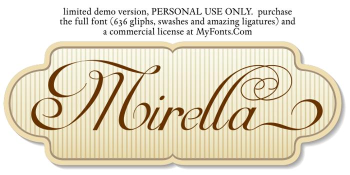 Mirella Script Limited Free Ver Font poster