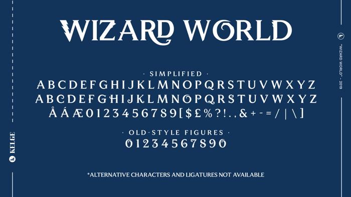 Wizard World Font poster