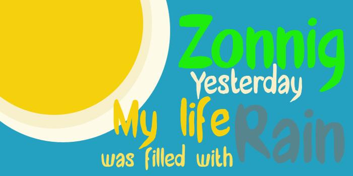 DK Zonnig Font poster