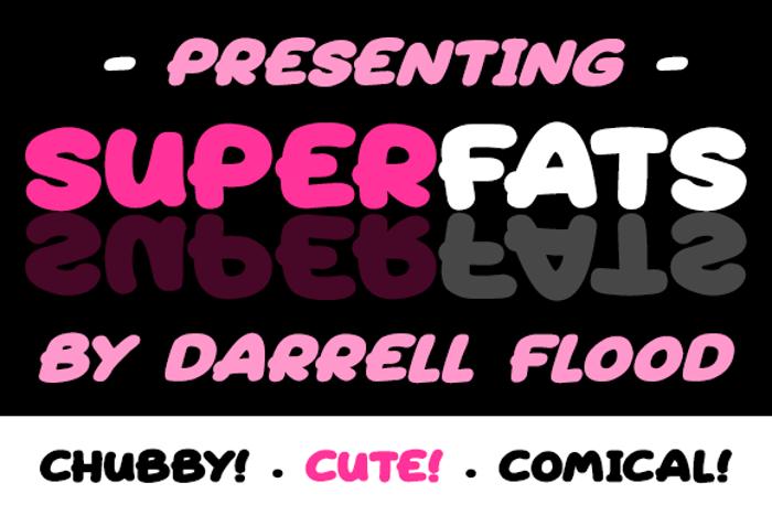 Superfats Font poster