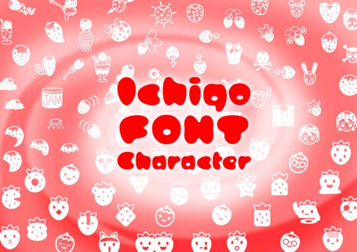 ICHIGOCharacter Font poster