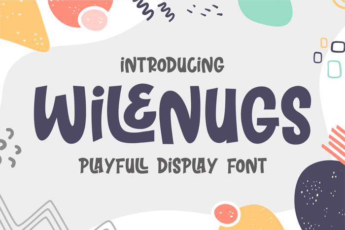 WILENUGS Font poster