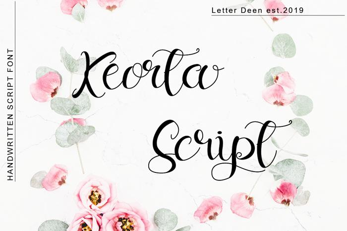 Keorta Script Font poster