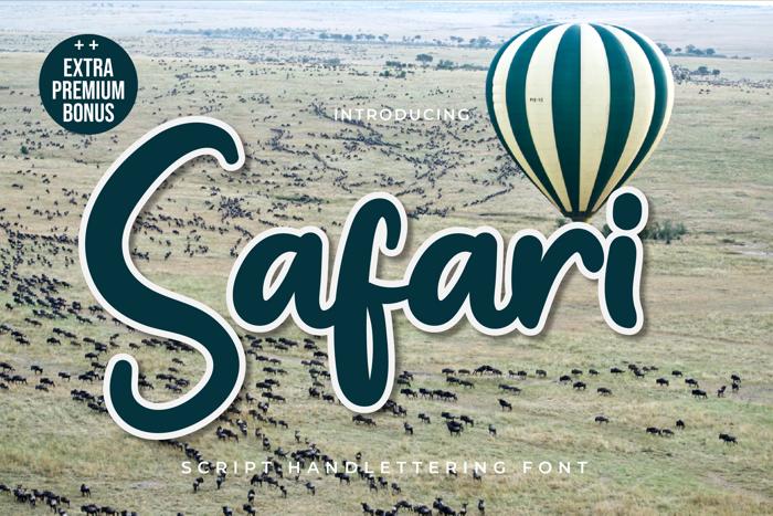 Safari Font poster
