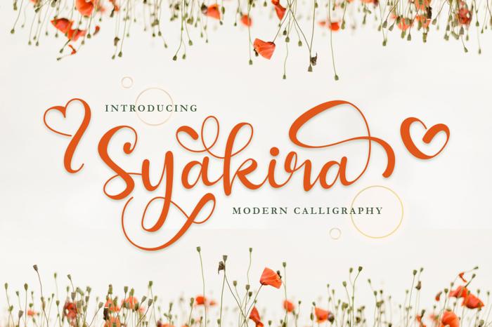 Syakira Font poster