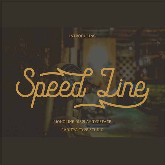 Speed Line Font poster