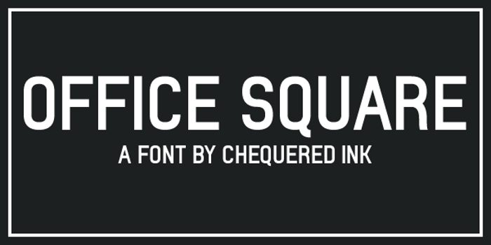 Office Square Font poster