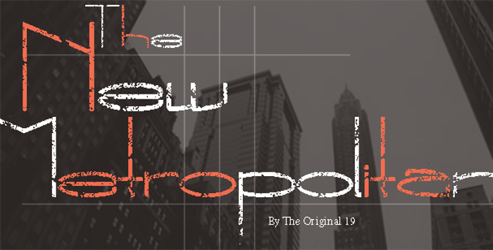 The New Metropolitan Font poster
