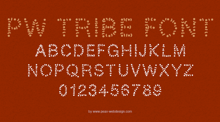 PWTribe Font poster