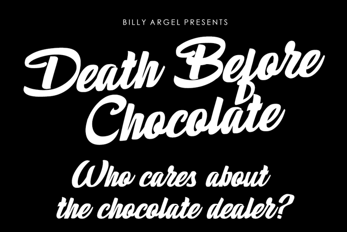 Death Before Chocolate Font poster