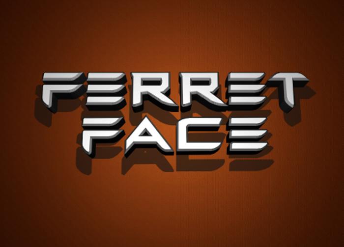 Ferret Face Font poster