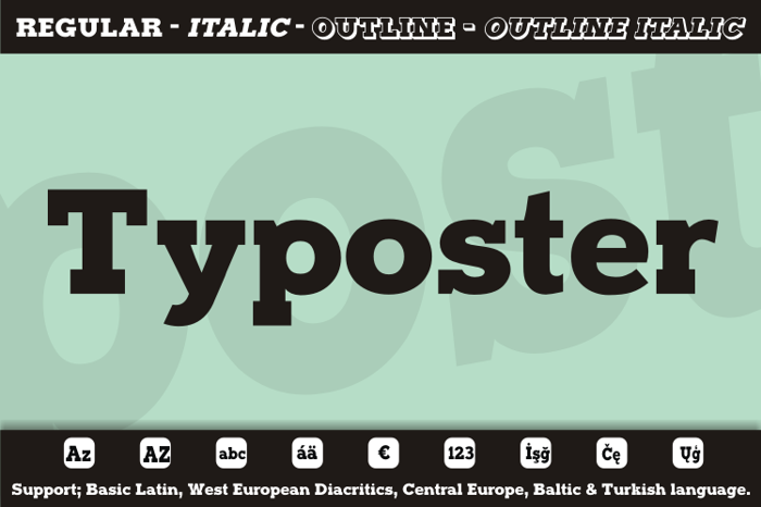 Typoster Font poster