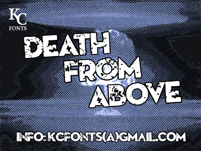 Death From Above Font poster
