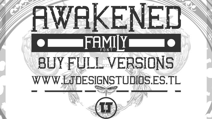 Awakened Font poster
