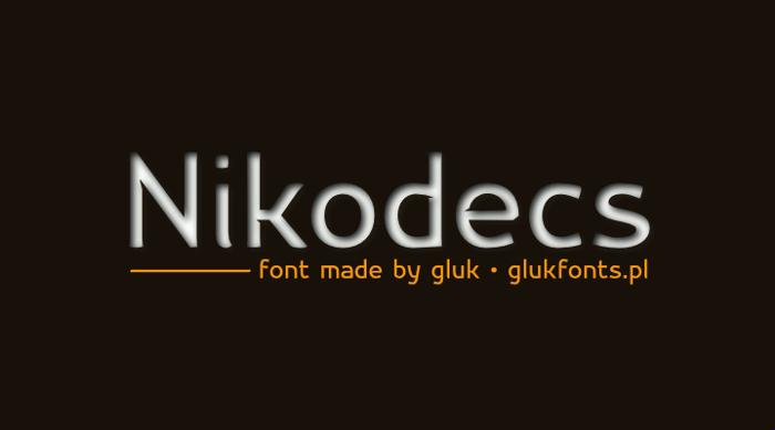 Nikodecs Font poster