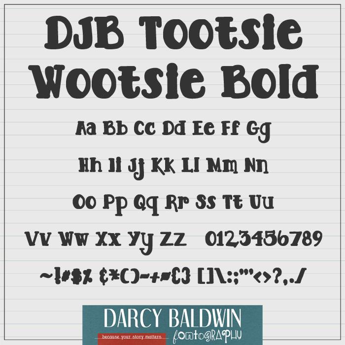 DJB TOOTSIE WOOTSIE BOLD Font poster
