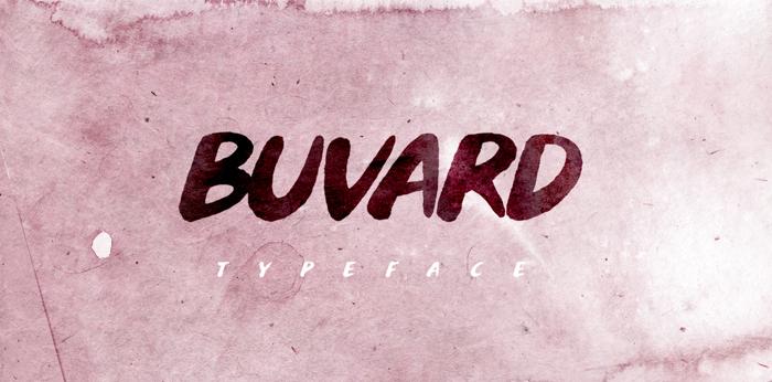 Buvard Font poster