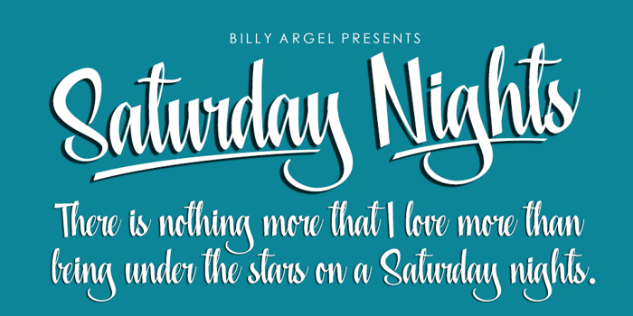 Saturday Nights Font poster