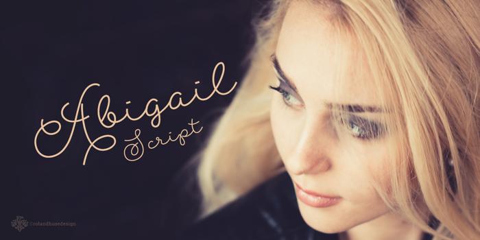 Abigail Script Font poster