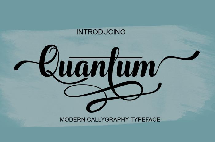 Quantum Font poster