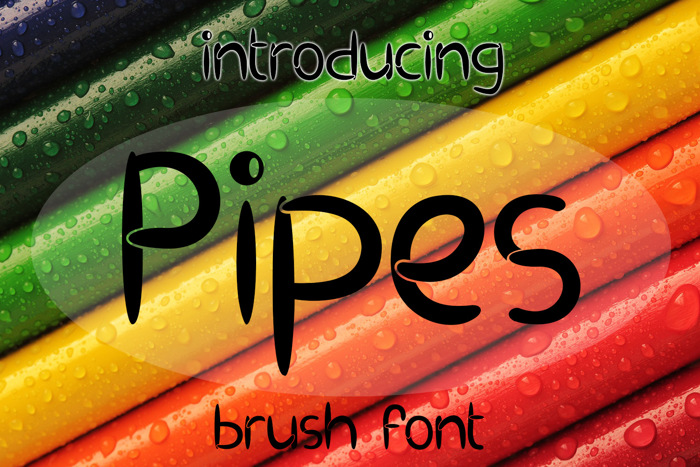 EP Pipes Font poster