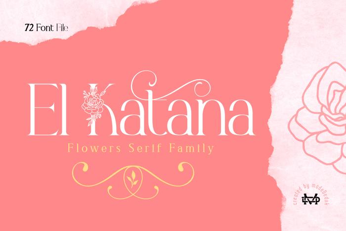 El Katana DEMO Font poster