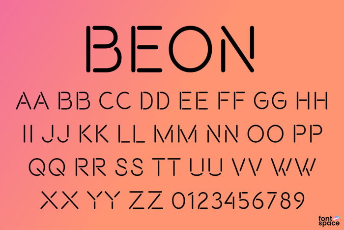 Beon Font poster