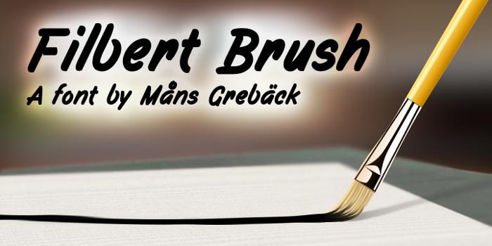 Filbert Brush Font poster