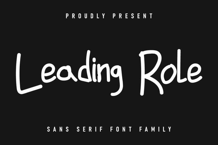 Leading Role Font poster