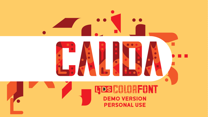 LJDS Calida Font poster