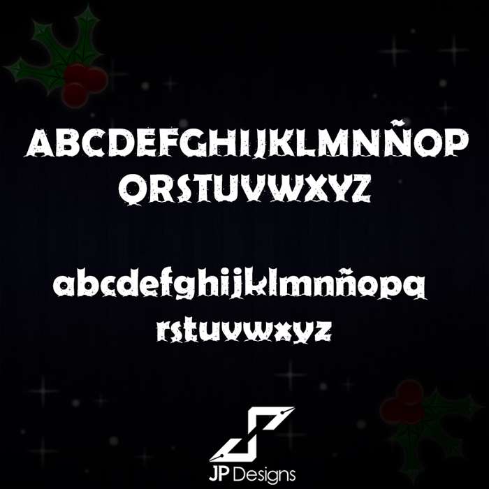 Firts Christmas II Font poster