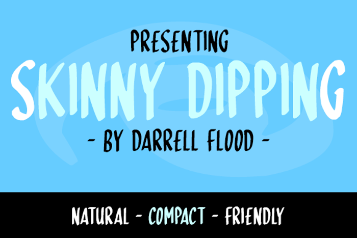 Skinny Dipping Font poster