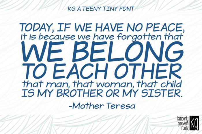 KG A Teeny Tiny Font poster